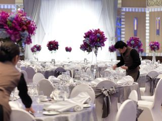 Beautiful wedding venue layout for the InterContinental Bangkok hotel