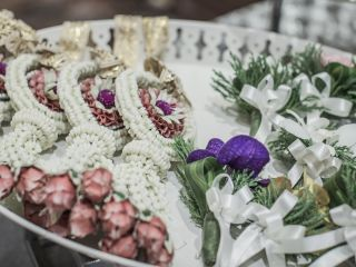 Decorative pieces used in a traditional Thai wedding at the intercontinental Bangkok